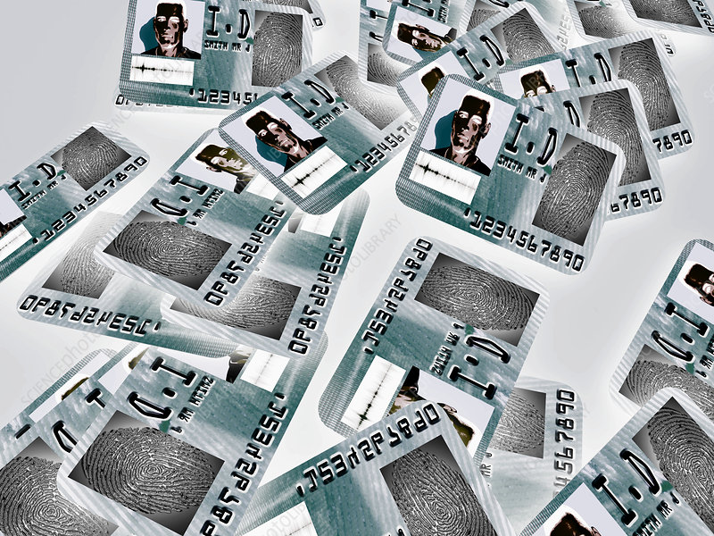 Biometric identity cards, artwork
