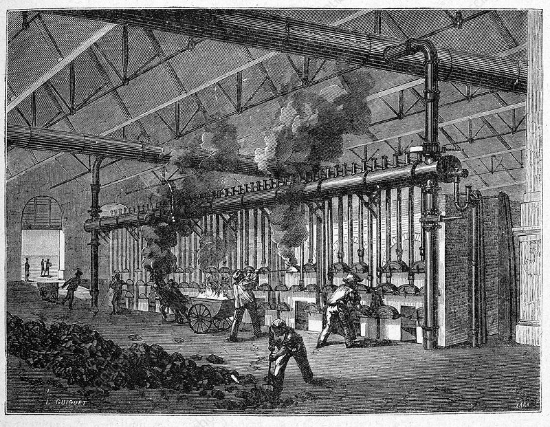 19th century production of coal gas