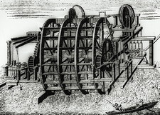 Water wheel for pumping water