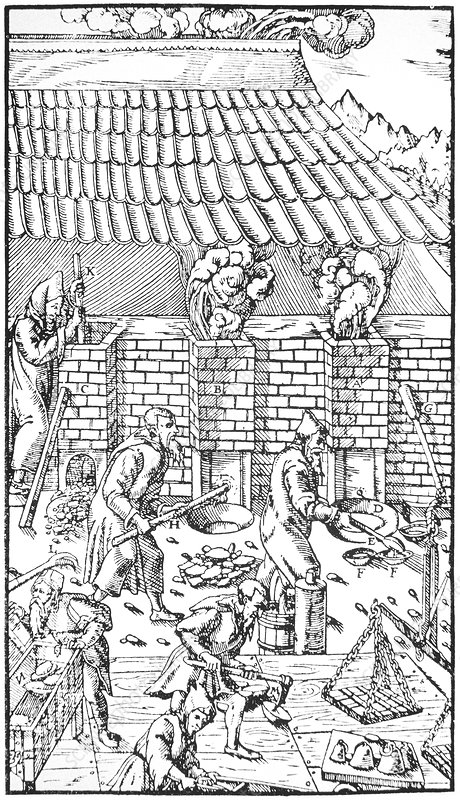 16th century smelting of ores
