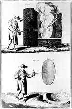 Making plates of glass in the 18th century