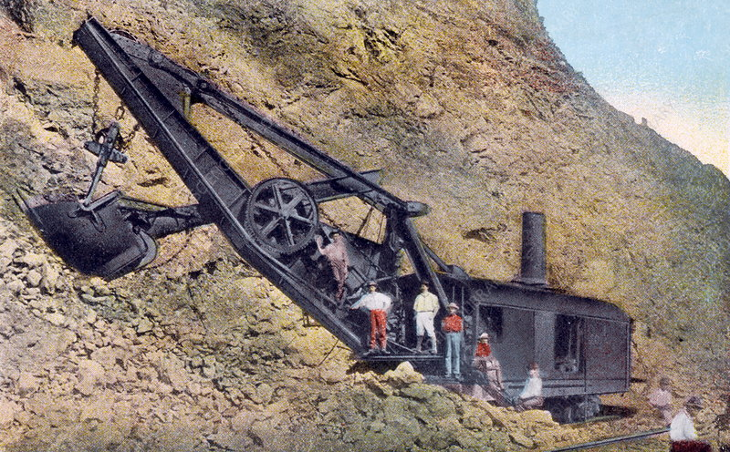 Steam-powered excavator