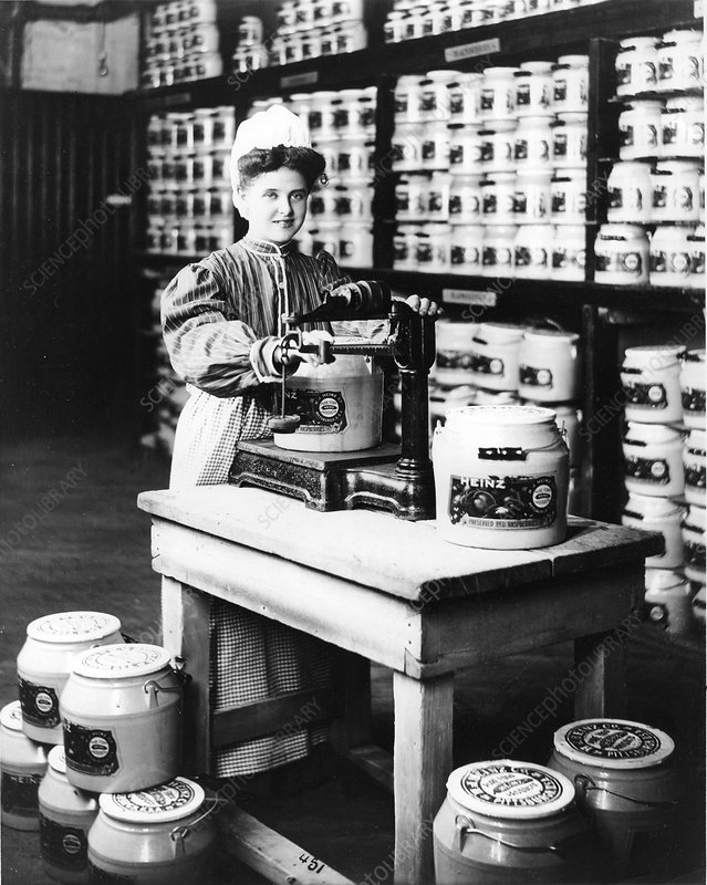 Girl Weighing Preserves