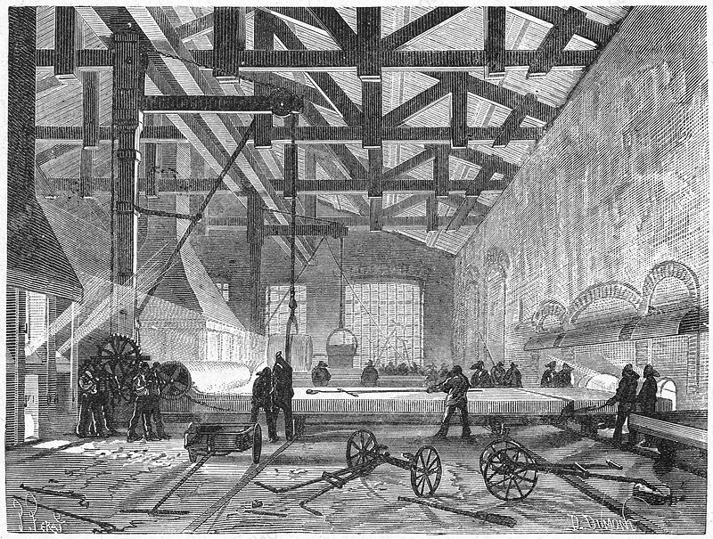 19th century glassmaking