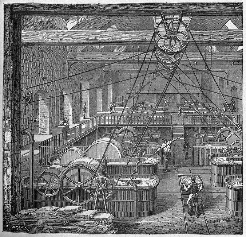 Paper making, 19th century