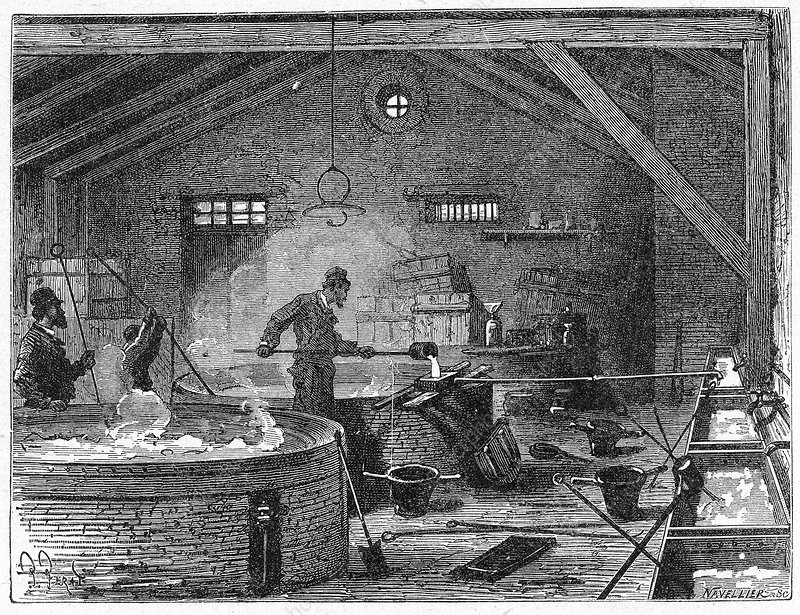 Soap making, 19th century