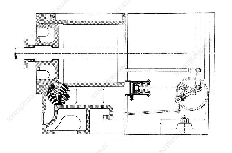 wheelock steam engine - stock image v200  0197