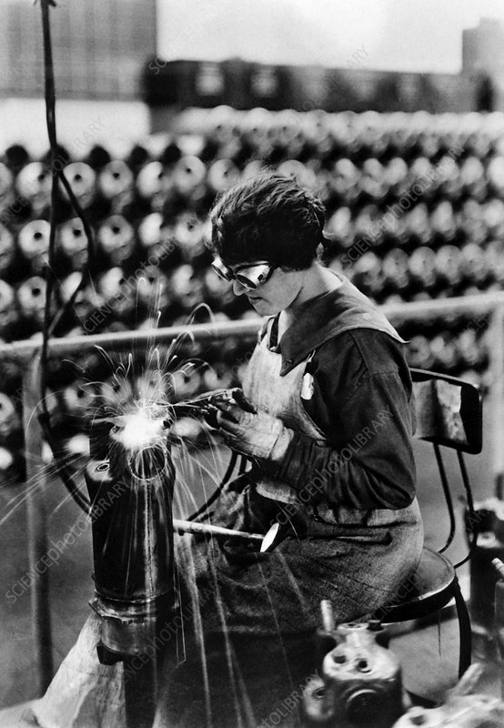 First World War munitions factory worker