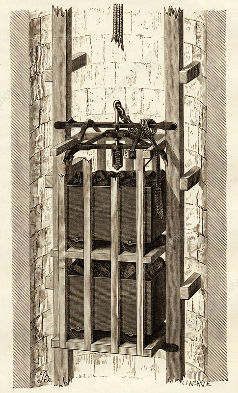 Mining safety cage, 19th century