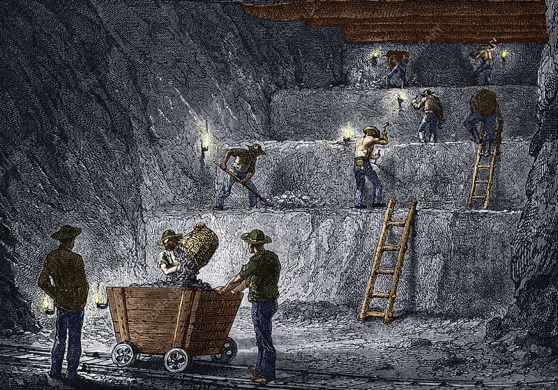 19th-century step mining, Prussia