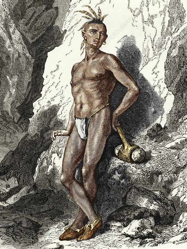 19th-century Native American mine worker