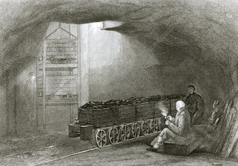 Coal mining in Newcastle-upon-Tyne in 1850