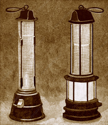 Miners' safety lamps
