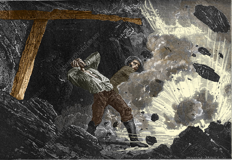 Coal mine explosion, 19th century