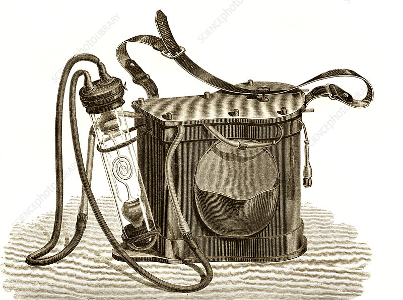 Mining safety lamp, 19th century