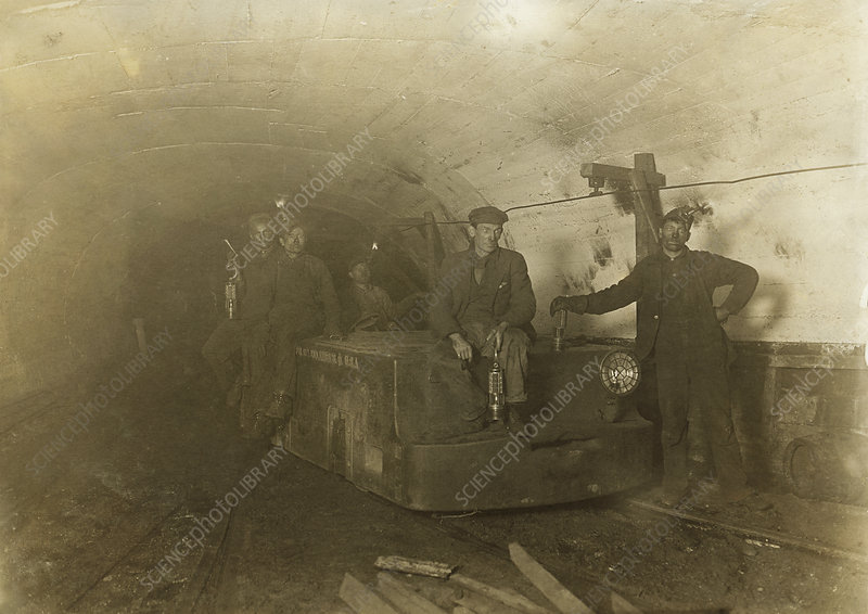 Coal mine, USA, 1908