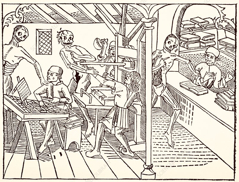 Early printing press illustration
