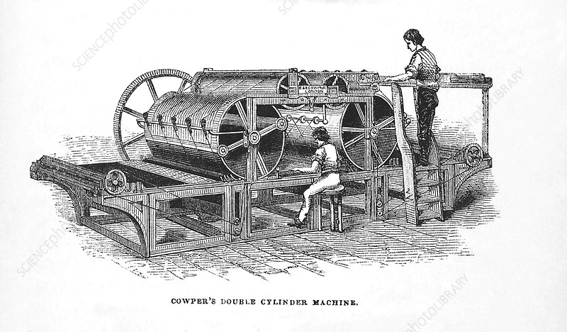 Cowper's printing machine