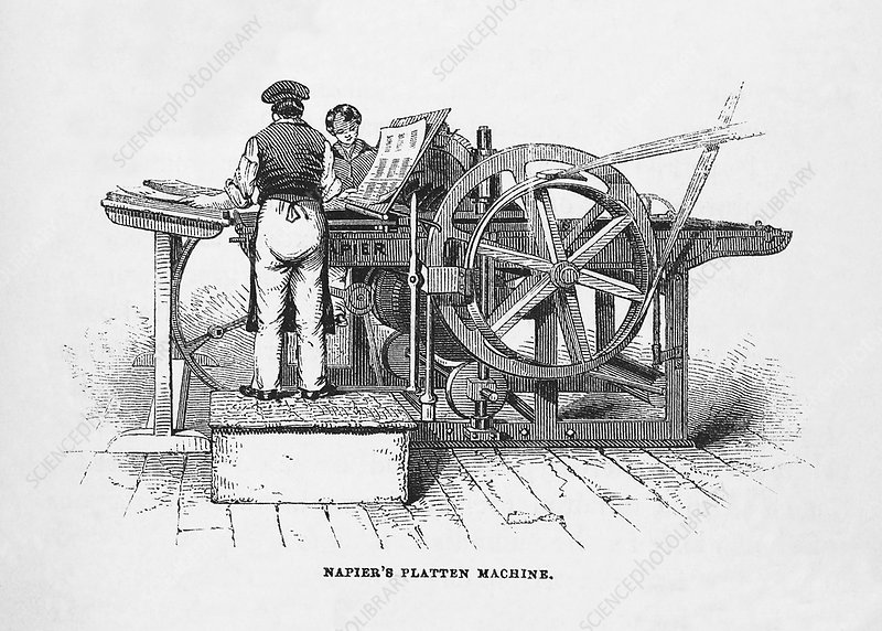 Napier's printing machine