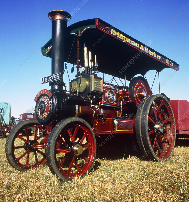 Steam traction engine, at a steam rally