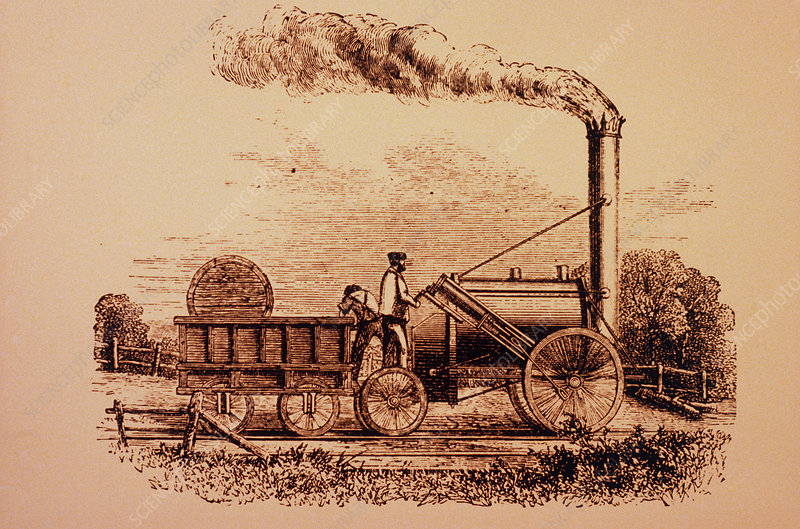 Stephenson's Rocket - the 1st steam locomotive