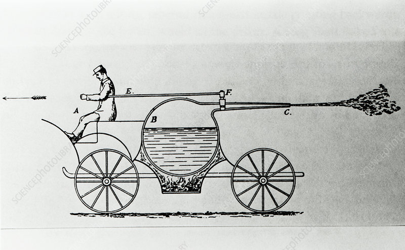Steam-driven vehicle