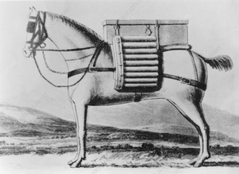 Horse-mounted rockets