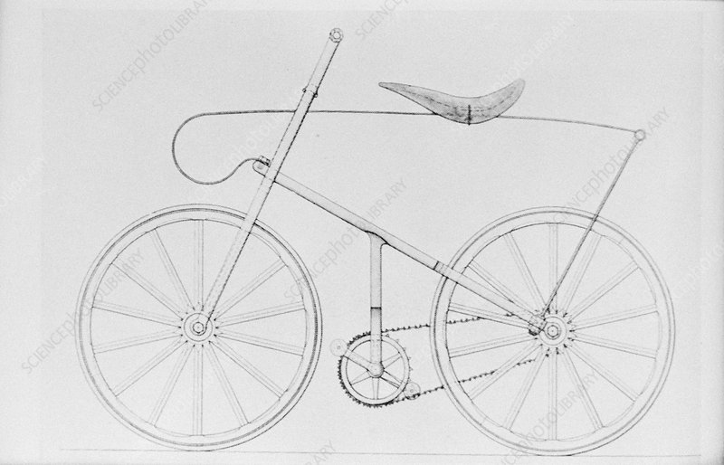 First chain-driven safety bicycle