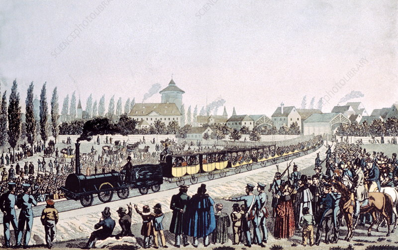 First German railway, 1835