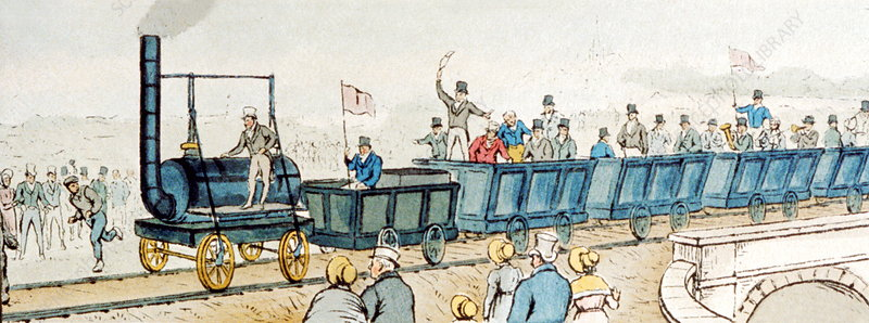 First public railway, 1825