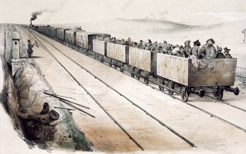 Early French railway, 1840s