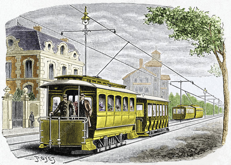 Early electric tram