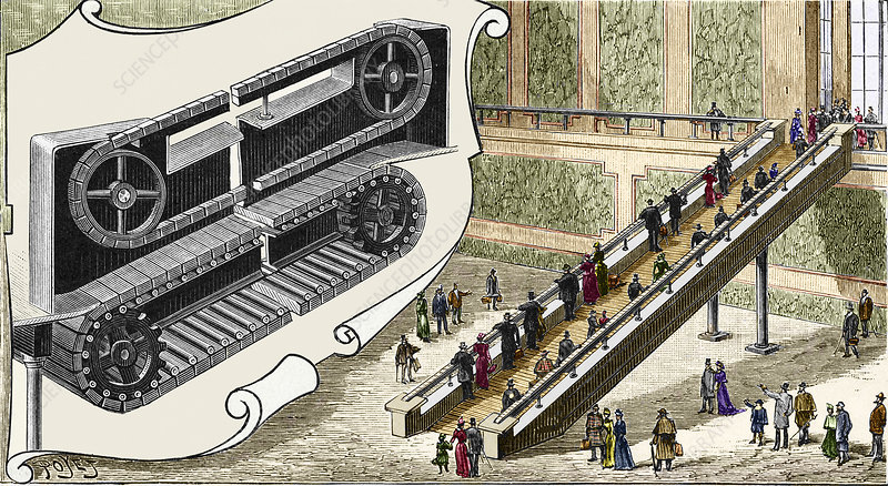 Early escalator, 1894
