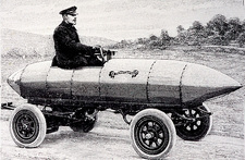 Camille Jenatzy's electric car, 1900