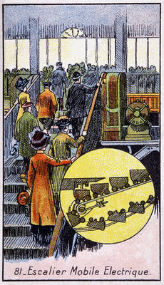 Electric escalator, 1910