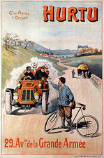 Car and bike advert, early 20th century