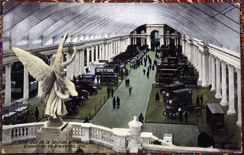 Car exhibition at the 1910 World Fair