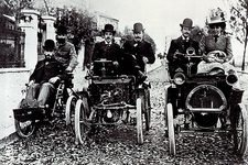The Renault family with their cars, 1899