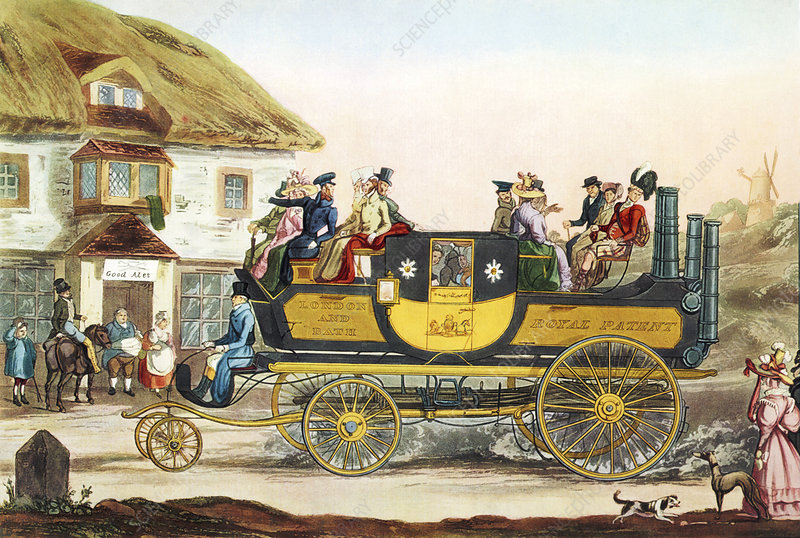 Steam-powered coach, 1826