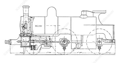 Three-cylinder compound steam locomotive