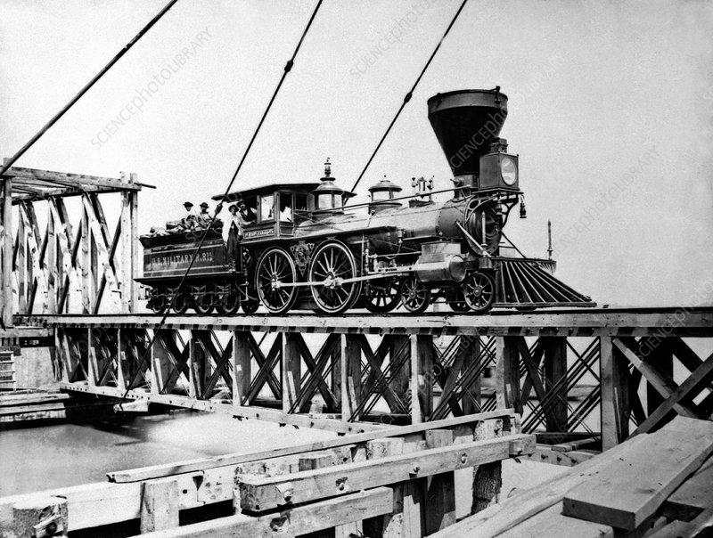 US Civil War train, 1863