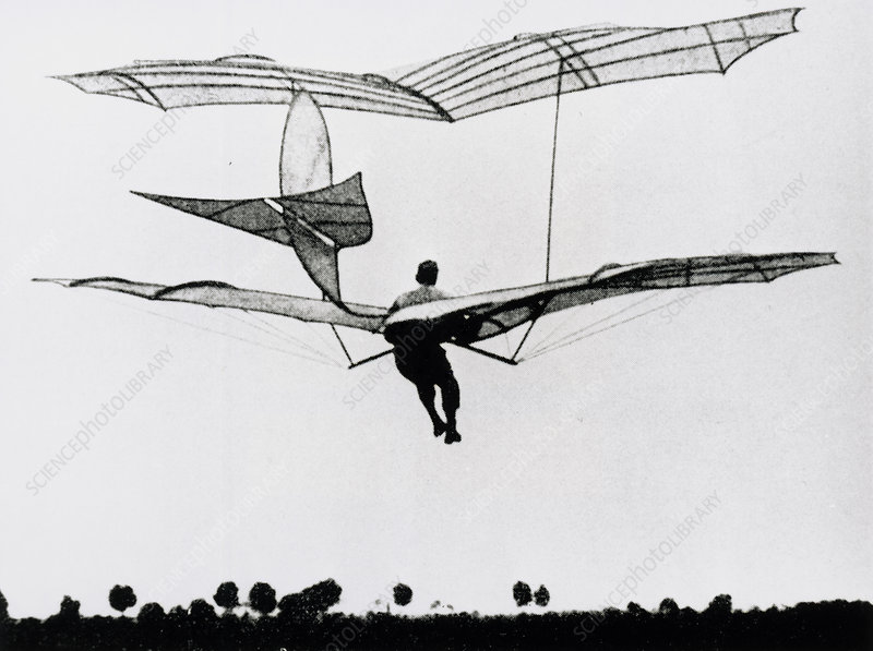 The German glider pioneer Otto Lilienthal
