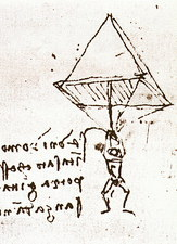 Illustration of Leonardo da Vinci's parachute