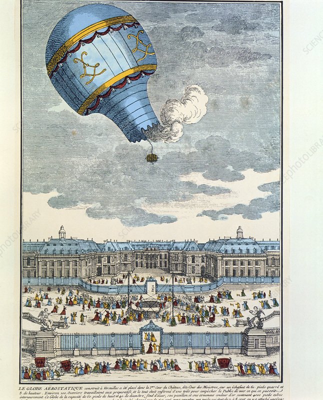 Experimental animal balloon flight