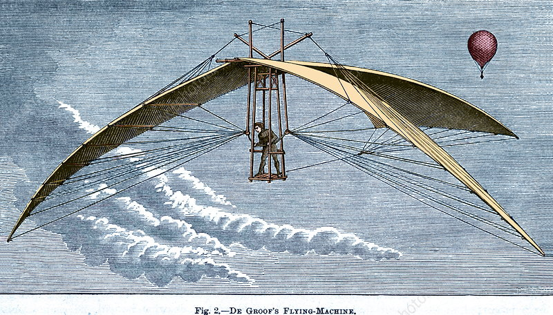 De Groof's flying machine, 19th century