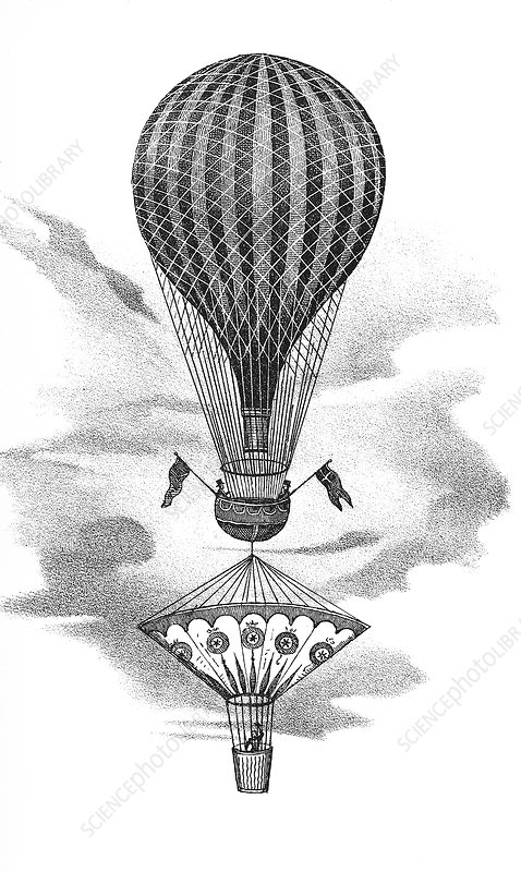Balloon and parachute