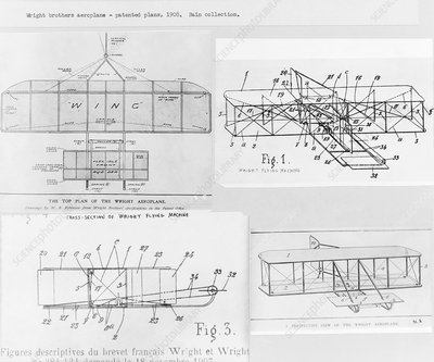 Patent for the Wright brothers' aeroplane