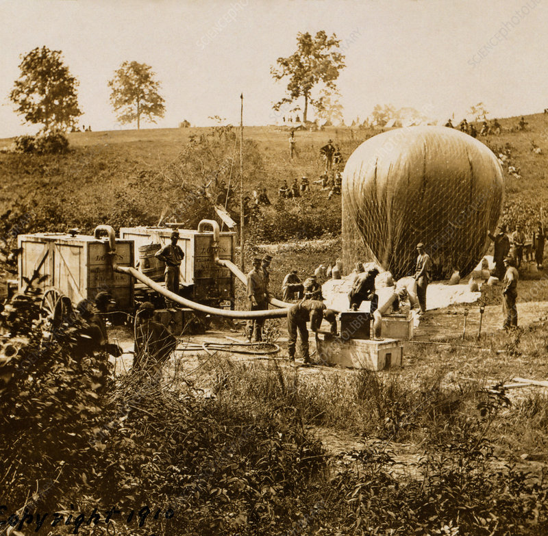 US Civil War observation balloon