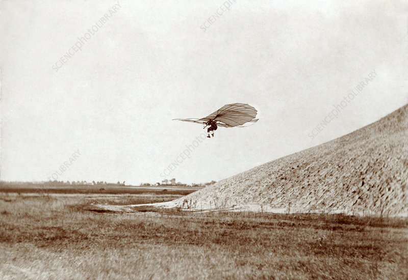 Otto Lilienthal gliding experiment