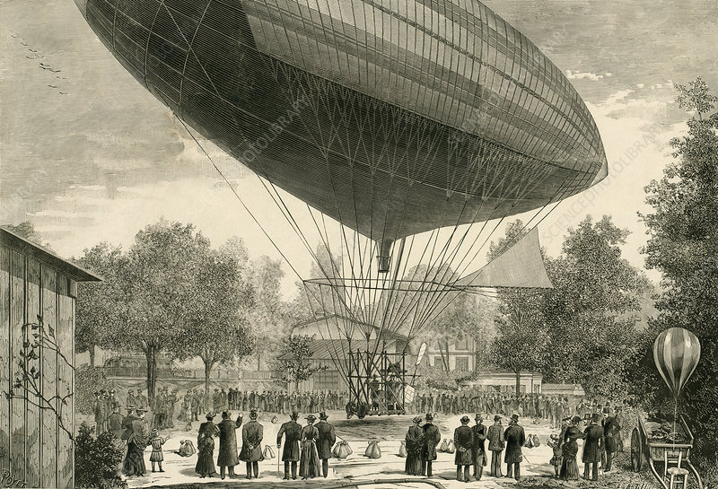 Tissandier electric airship, 1883